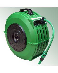 "Automatic Hose Reel Plastic Housing Green including 18 m ½"" Hose"
