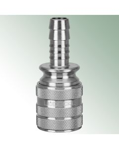 WaterProfi Hose Tail Connector ¾'' x Coupling with Water Stop