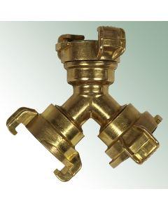 GEKA® plus 3-way Connector Brass